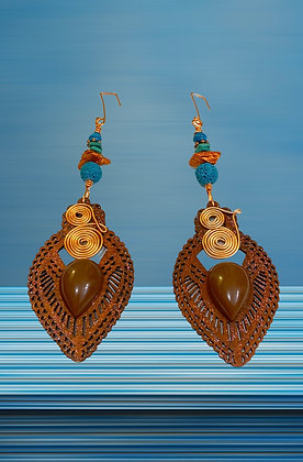 Sweet Chocolate Copper Lady Fashion Style Earrings
