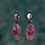 Thumbnail: Try Me Purple Coiled Earrings
