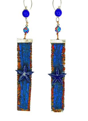 Blue Evening Denim Sky Jeweled Earrings