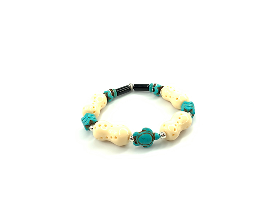 Turtle town turquoise fetish lover fun bracelet