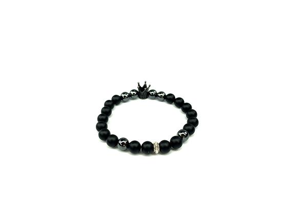 Be a king boho natural onyx beaded bracelet