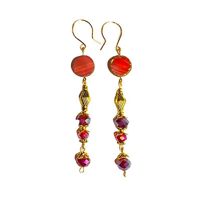 Strawberry Vine Earrings