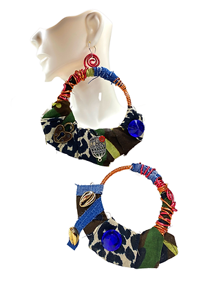 Camouflage loaded wired Earrings