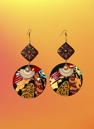 Diva Bold Abstract Hand Painted Fashion Earrings