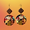 Thumbnail: Diva Bold Abstract Hand Painted Fashion Earrings
