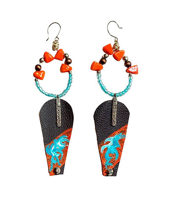 Pumpkin & Spice Leather Earrings