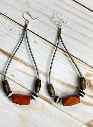 Brown Lady Soft Dangle Earrings