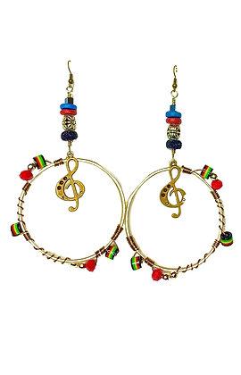 Sounds Of Music Hoop Earrings