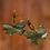 Thumbnail: Polymer Clay Green Golden  Butterfly Fashion Dangle Earrings