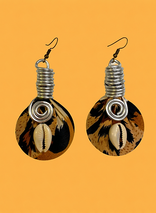 Tiger Loop Coiled Fashion Style Boho Dangle Earrings