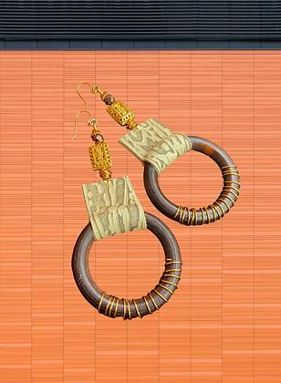 Language Spoken Hoop earrings