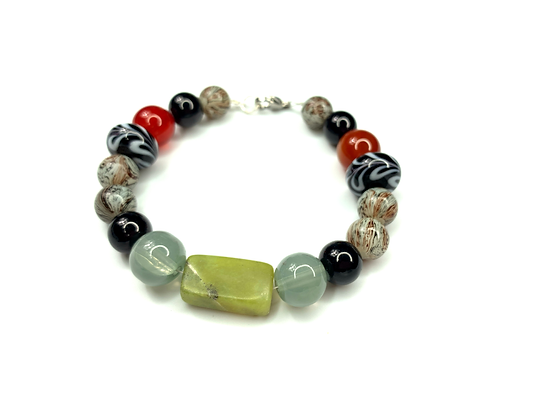 Natural Advertine Green stone bracelet