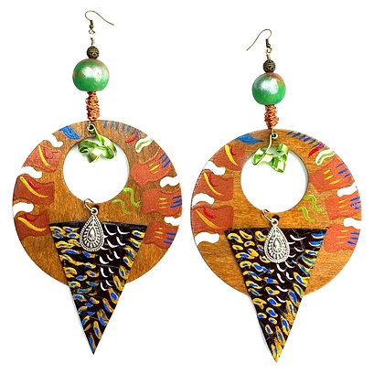 Boho Style Wood Earrings