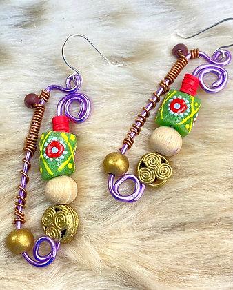 The Finest Wire Tribal Earrings