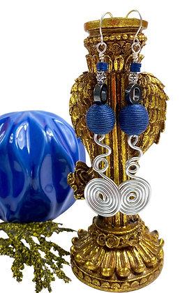 Over Wired True Blue Earrings