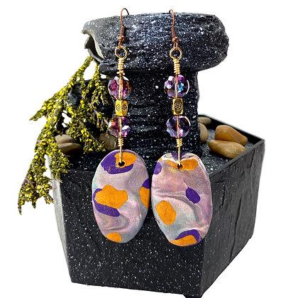Lanay Glass Beaded Jeweled  Earrings