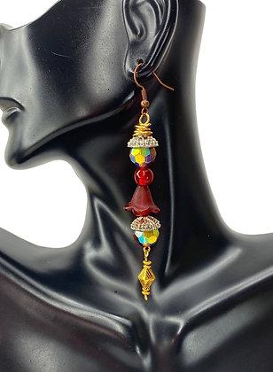 High Tower Flower Drop Earrings