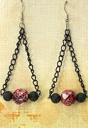 Break Every Chain Berry Earrings