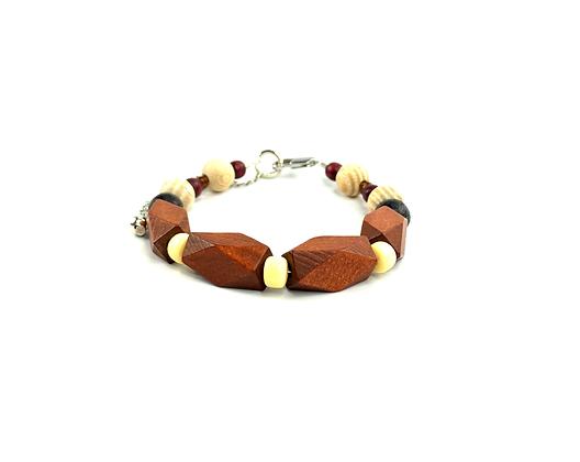 Woody  wood brown blend bracelet