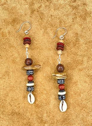 Sweet Lady Cowrie Earrings