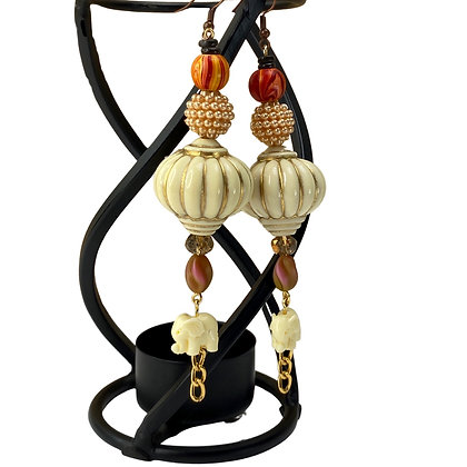 Glitz Lit Elephant Earrings