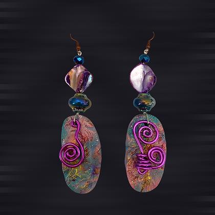 Try Me Purple Coiled Earrings