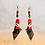 Thumbnail: Stacked Tangerine Leather Dangle Fashion Style Earrings