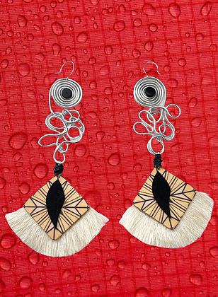 Wing Wire Ziggy Fashion Statement Style Earrings