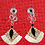 Thumbnail: Wing Wire Ziggy Fashion Statement Style Earrings