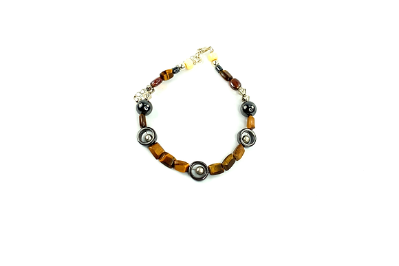 Genuine Tiger Eye 55 boho bracelet