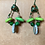 Thumbnail: Kiwi  Sliced Wire Earrings