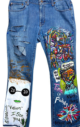 Hind Sight 20/20 Boho Distressed Jeans
