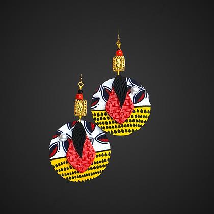 Beautiful Gold Beaded Fashion Earrings