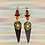 Thumbnail: Golden Lady Fashion Style Leather Earrings