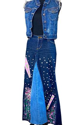 AKA Sister Sister Pearl  Chic Denim Skirt