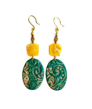 Green Ladies Earrings