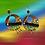 Thumbnail: Charming Colorful Wooden Denim Cross Earrings