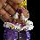 Thumbnail: Purple Polymer Toppled Earrings