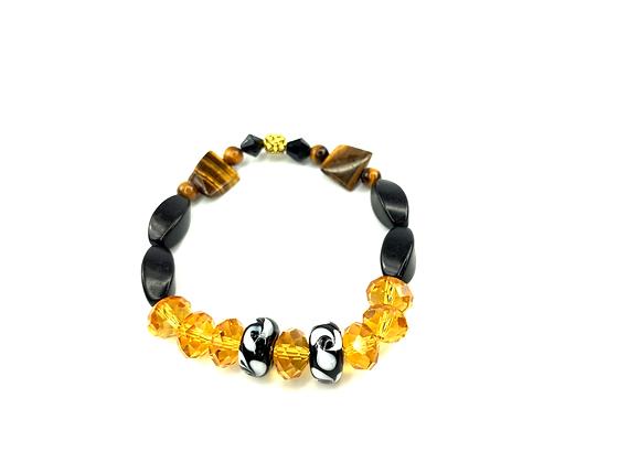 Tiger eye beaded apple juice color bracelet