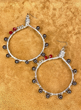 Walk'em Down Hoop Earrings