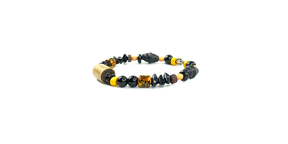Zombie black lion bracelet