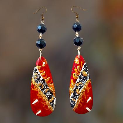 Beauty Red Classy Dangle Fashion Earrings