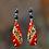 Thumbnail: Beauty Red Classy Dangle Fashion Earrings