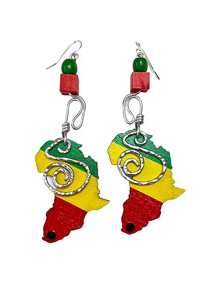 Home African Wired Earrings