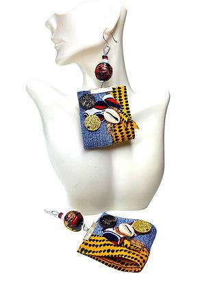 Boho Ms. Lady Denim Earrings