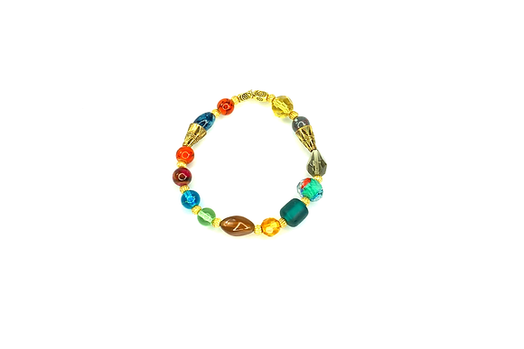 Colored me bad jazzed up fun slip on bracelet