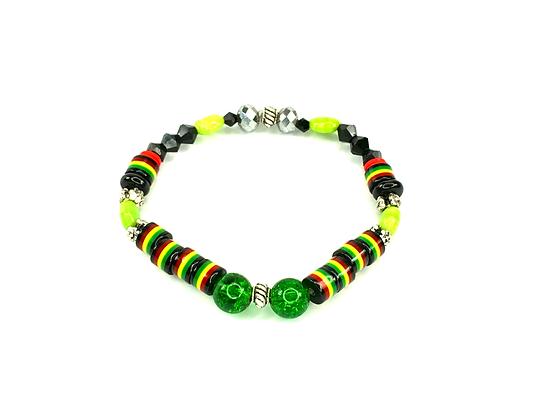 Caribbean vibes slip on funky bracelet