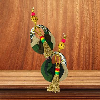 Camouflage Draped Beauty Beaded Earrings