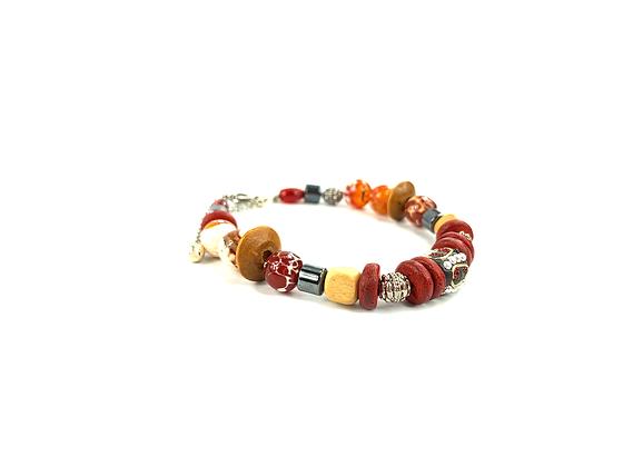 Marvel at shabby agate gemstone bracelet