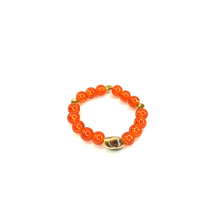 Orange passion glass fruit colored stylish bracelet